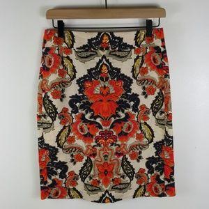 J. Crew Linen Floral Skirt